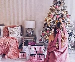 christmas, pink, and girl image