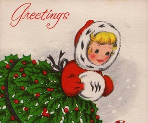 christmas card, greeting cards, and illustration image
