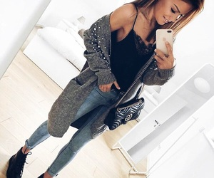 black top, cozy, and fashion image