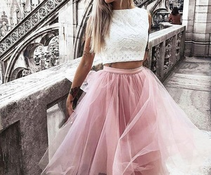 fashion, pink skirt, and cute image