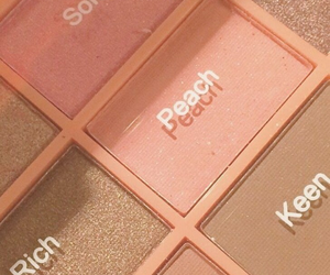 peach, makeup, and aesthetic image