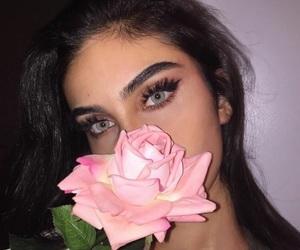 eyes, flower, and beautyful image