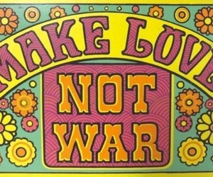love, hippie, and peace image