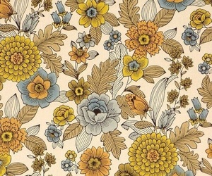 flowers, floral, and vintage image