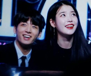 iu, bts, and jungkook image