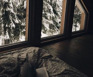 winter, snow, and book image