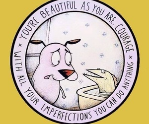 courage, courage the cowardly dog, and cartoon image