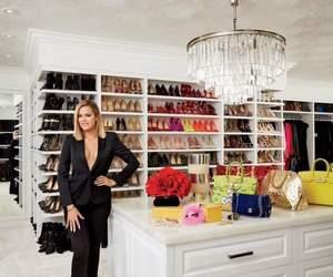 khloe kardashian, closet, and luxury image