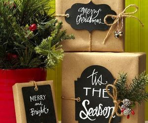 christmas, evergreen, and packages image
