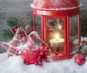 christmas, lantern, and light image