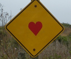 heart, yellow, and red image