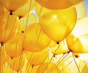 yellow and ballons image