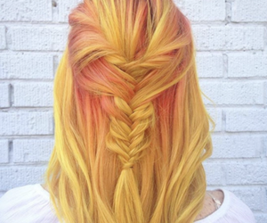 hair, yellow, and stylish image