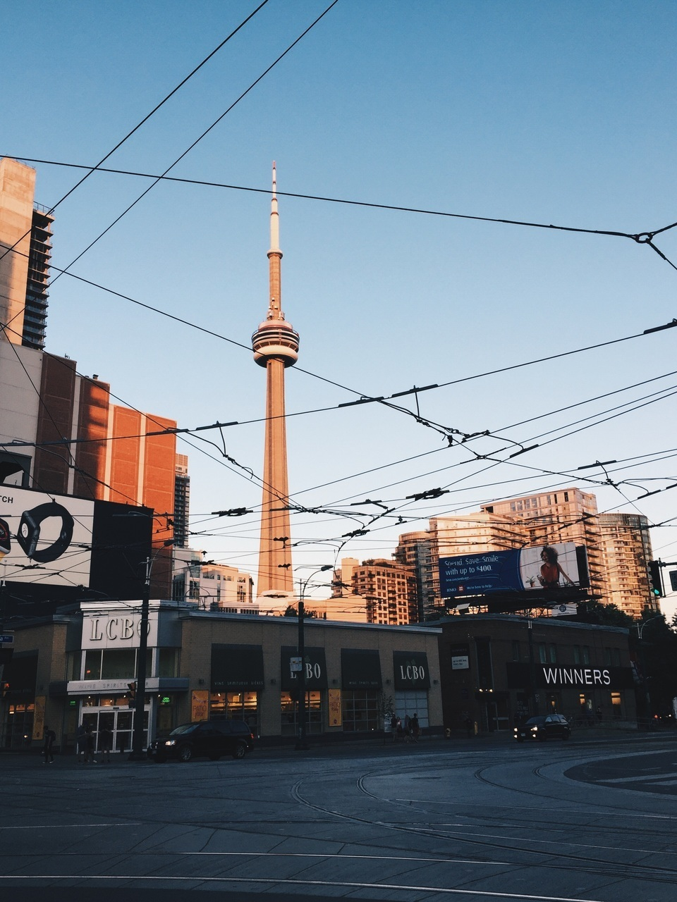 blue, CN tower, and home image