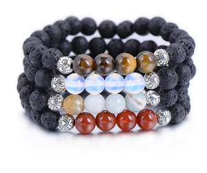 bohemian, natural stones, and bracelet image