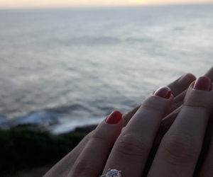 I DO, ring, and sunset image