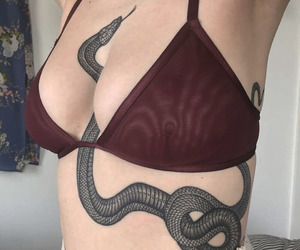 tattoo, snake, and art image