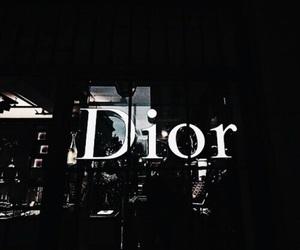 dior, dark, and black image