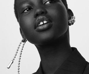b&w, fashion, and model image