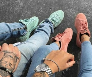 tattoo, couple, and goals image