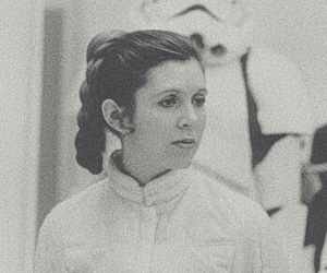 carrie fisher, starwars, and DarthVader image