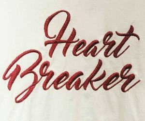 quotes, red, and heart breaker image