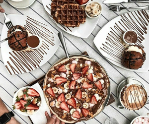 food, chocolate, and sweets image