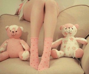 pink, cute, and socks image
