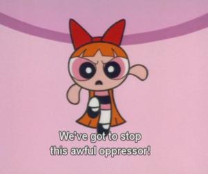 pink, powerpuff girls, and cartoon image