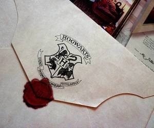 hogwarts, harry potter, and Letter image