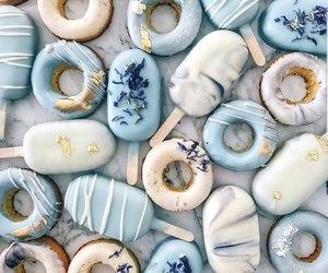 glaze, ice cream, and donuts image