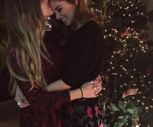 love, lesbian, and christmas image