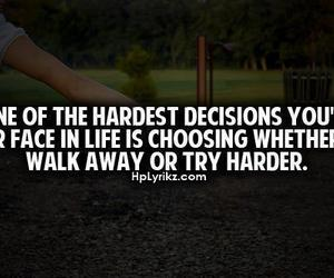 quote, decisions, and hard image