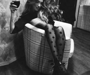 black, fashion, and white image