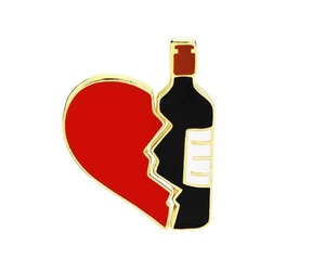 alcohol, wine, and broken heart image