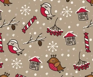 christmas, wallpaper, and birds image