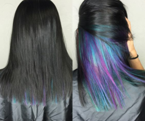 hair, blue, and color image