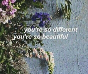 flowers, quotes, and aesthetic image