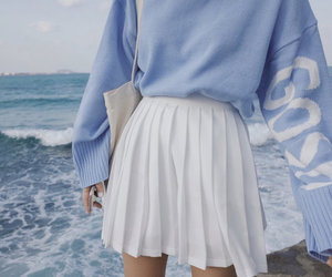 blue, skirt, and tumblr image