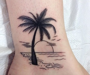 tattoo, beach, and art image