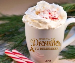 candy canes, coffee, and christmas image