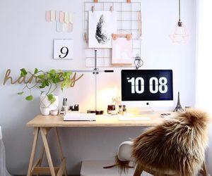 design, desk, and deskspace image