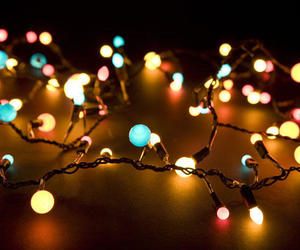 aesthetic, christmas lights, and december image