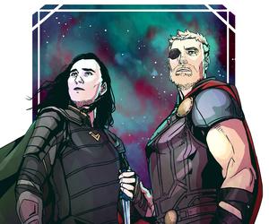 art, loki laufeyson, and Avengers image