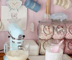 kitchen, pink, and baking image