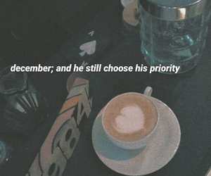 broken, coffee, and december image
