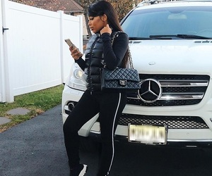 black girl, car, and mercedes image