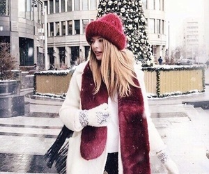 winter, christmas, and red image