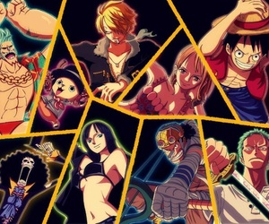 one piece, straw hat pirates, and strawhat pirates image