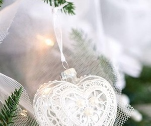christmas, heart, and white image